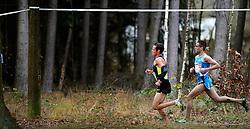 25-11-2012 ATLETIEK: NK CROSS WARANDELOOP: TILBURG<br /> Khalid Choukoud (r) wint het NK maar wordt tweede op de warandeloop. Voorop Jesper Van der Wielen die 6de wordt.<br /> ©2012-FotoHoogendoorn.nl