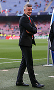 Manchester United Manager Ole Gunnar Solskjaer during the Champions League quarter-final leg 2 of 2 match between Barcelona and Manchester United at Camp Nou, Barcelona, Spain on 16 April 2019.