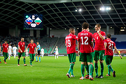Players of Bulgaria celebrate goal during football match between National teams of Slovenia and Bulgaria in Group stage of UEFA National League, on September 6, 2018 in SRC Stozice, Ljubljana, Slovenia. Photo by Urban Urbanc / Sportida