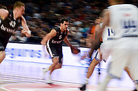 Real Madrid's Jeffery Taylor and Gustavo Ayon and Brose Bamberg's Leon Radosevic and Nikos Zisis during Turkish Airlines Euroleague between Real Madrid and Brose Bamberg at Wizink Center in Madrid, Spain. December 20, 2016. (ALTERPHOTOS/BorjaB.Hojas)