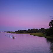 Today's  Summer sunset  at Narrow River Narragansett, RI,  July  15, 2013.