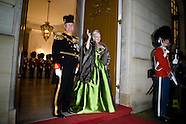The Regent couple hold the annual New Year's Court in Copenhagen