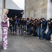 Sesto e penultimo giorno della Settimana della Moda a Milano: Valeria Mazza fotografata alla sfilata di Roberto Cavalli<br /> <br /> Sixth day and penultimate day of Milan Fashion Week: Valeria Mazza photographed at the fashion show Roberto Cavalli