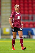 Marie Muller (#10) of Germany during the UEFA Women's U19 Championship match between England Women and Germany at McDiarmid Stadium, Perth, Scotland on 16 July 2019.