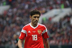 June 14, 2018 - Moscow, Russia - Russian Federation. Moscow. The Luzhniki Stadium. Match Opening of the World Cup 2018. Russia - Saudi Arabia. Solemn opening ceremony of the FIFA World Cup 2018. FIFA World Cup 2018. Player of the Russian national football team (in red)..Yuri Zhirkov. (Credit Image: © Russian Look via ZUMA Wire)