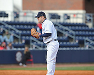 Former Rebel Mark Holliman pitches at Ole Miss baseball alumni game at Oxford-University Stadium in Oxford, Miss. on Saturday, February 5, 2011.