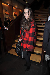 TALLULAH ORMSBY-GORE at a party to celebrate the launch of the new Mulberry leather case for Apple's iPhone held at the Mulberry store, Bond Street, London on 5th November 2009.