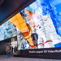LAS VEGAS - JANUARY 11 : 3D video wall at the LG booth at the CES show held in Las Vegas on January 11 2013 , CES is the world's leading consumer-electronics show and companies from all over the world come to show their latest technologies and products.