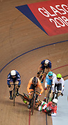Glasgow, Scotland, Tuesday, 7th  August 2018, European Championships, Track Cycling, Sir Chris Hoy Velodrome, , Hungary's Sandor SZALONTAY,  goes down, during the Heat 2 Keirin,  © Peter SPURRIER/Alamy Live , News