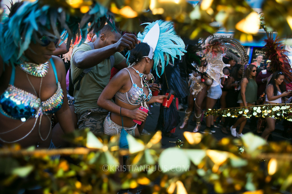 Hackney carnival 2016 took place on a hot Indian summer's day, September 2016 with the streets full of partying people.