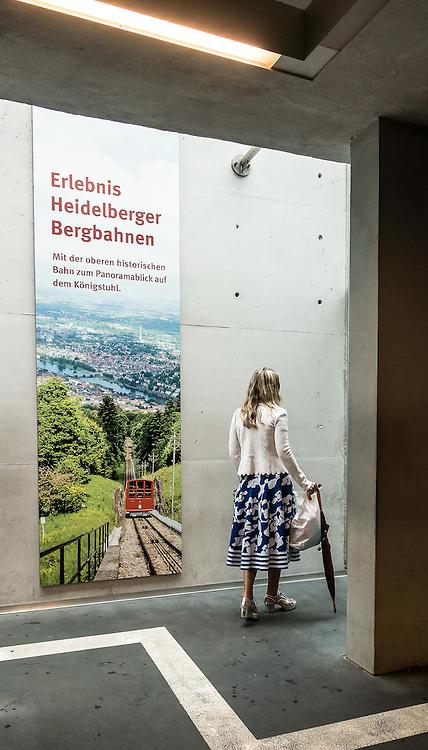 Germany, Heidelberg , visiting the castle