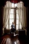 FLORENCE: watchwoman at Palazzo Pitti