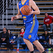 Santa Cruz Warriors Guard Aaron Craft (14) dribbles the ball up court in the second half of a NBA D-league regular season basketball game between the Delaware 87ers and the Santa Cruz Warriors (Golden State Warriors) Tuesday, Jan. 13, 2015 at The Bob Carpenter Sports Convocation Center in Newark, DEL