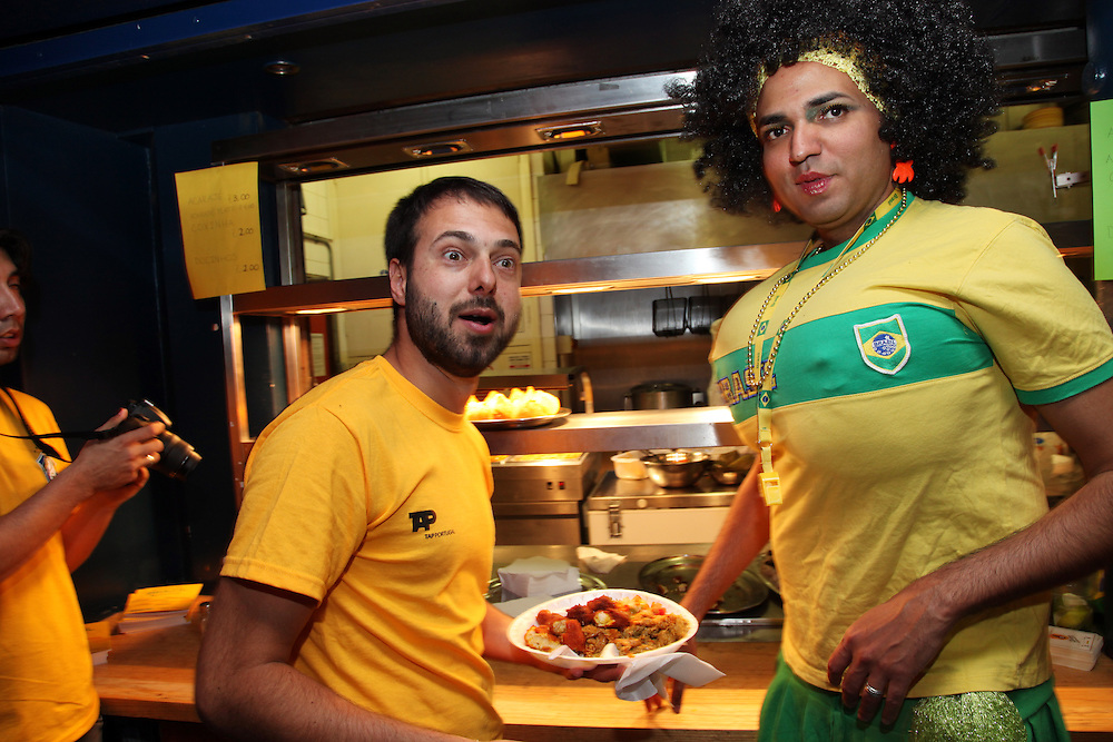 Brazil v Ivory Coast at Dingwalls, Camden<br /> <br /> <br /> Copyright: Jonathan GoldbergWorld Cup 2010<br /> Brazil v Ivory Coast at Jongleurs, Camden