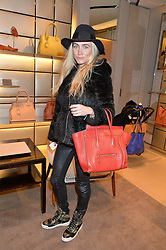 ASHLEY WARWA at a Valentine's Ladies breakfast hosted by Tod's and Carolina Bonfiglio at the Tod's boutique in New Bond Street, London on 10th February 2015.
