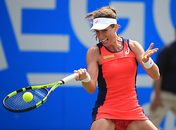 Great Britain's Johanna Konta during her match with Ukraine's Lesia Tsurenko during day two of the 2017 AEGON Classic at Edgbaston Priory, Birmingham. PRESS ASSOCIATION Photo. Picture date: Tuesday June 20, 2017. See PA story TENNIS Birmingham. Photo credit should read: Mike Egerton/PA Wire. RESTRICTIONS: Editorial use only, no commercial use without prior permission