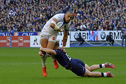 February 23, 2019 - Saint Denis, Seine Saint Denis, France - The Center of French Team GAEL FICKOU in action during the Guinness Six Nations Rugby tournament between France and Scotland at the Stade de France - St Denis - France..France won 27-10 (Credit Image: © Pierre Stevenin/ZUMA Wire)