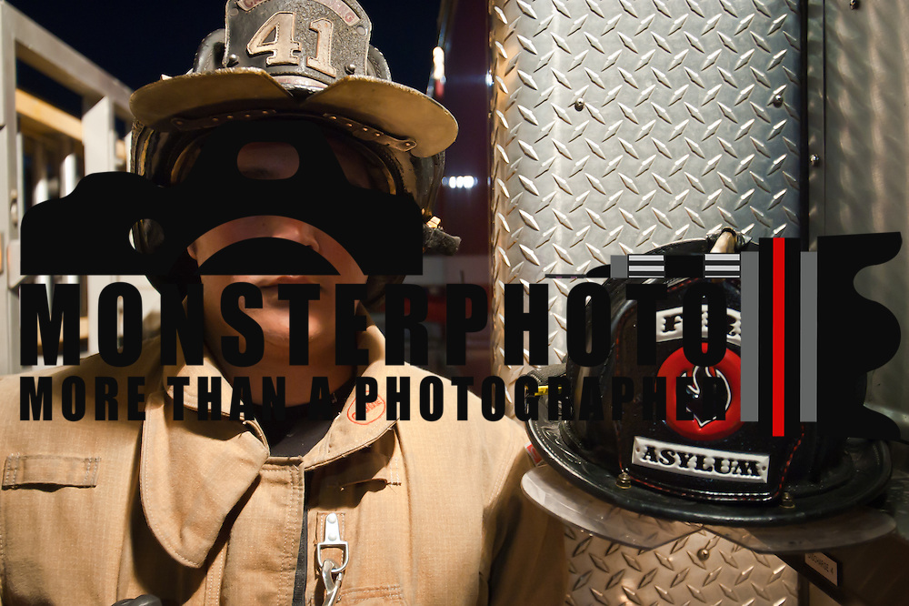 Portrait of one of the worlds bravest Camden-Wyoming Fire fighter Robin Andino Wednesday, July 6, 2011, in Camden-Wyoming Delaware.