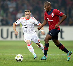 23.10.2012, Grand Stade Lille Metropole, Lille, OSC Lille vs FC Bayern Muenchen, im Bild Xherdan SHAQIRI (FC Bayern Muenchen - 11) wurde zur Pause fuer Franck RIBERY (FC Bayern Muenchen - 7) (nicht im Bild) eingewechselt // during UEFA Championsleague Match between Lille OSC and FC Bayern Munich at the Grand Stade Lille Metropole, Lille, France on 2012/10/23. EXPA Pictures © 2012, PhotoCredit: EXPA/ Eibner/ Bildpressehaus..***** Gerry Schmit..***** ATTENTION - OUT OF GER *****