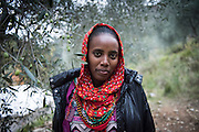December 5, 2016 - Breil-sur-Roya, France: Johanna, 17, is an unaccompanied minor migrant from Eritrea that found shelter on the farm of Cedric Herrou. Cedric is one of the inhabitants of the village Breil-sur-Roya in the Roya valley, in the Alps on the French Italian border, who formed a network to help migrants. <br /> <br /> 5 décembre 2016 - Breil-sur-Roya, France: Johanna, 17 ans, est une migrante non accompagnée d'Érythrée qui a trouvé un abri sur la ferme de Cedric Herrou. Cédric est l'un des habitants du village de Breil-sur-Roya, dans la vallée de la Roya, dans les Alpes à la frontière franco-italienne, qui a formé un réseau d'aide aux migrants.