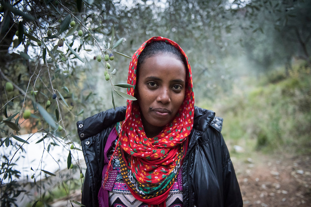 December 5, 2016 - Breil-sur-Roya, France: Johanna, 17, is an unaccompanied minor migrant from Eritrea that found shelter on the farm of Cedric Herrou. Cedric is one of the inhabitants of the village Breil-sur-Roya in the Roya valley, in the Alps on the French Italian border, who formed a network to help migrants. <br /> <br /> 5 d&eacute;cembre 2016 - Breil-sur-Roya, France: Johanna, 17 ans, est une migrante non accompagn&eacute;e d'&Eacute;rythr&eacute;e qui a trouv&eacute; un abri sur la ferme de Cedric Herrou. C&eacute;dric est l'un des habitants du village de Breil-sur-Roya, dans la vall&eacute;e de la Roya, dans les Alpes &agrave; la fronti&egrave;re franco-italienne, qui a form&eacute; un r&eacute;seau d'aide aux migrants.