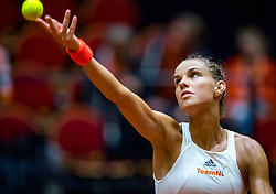 09-02-2019 NED: Fed Cup Netherlands - Canada, Den Bosch<br /> The Netherlands loses on the first day of Canada during the first round of the Tennis FedCup. The Dutch FedCup team plays after four years at home and is 2-0 behind / Arantxa Rus
