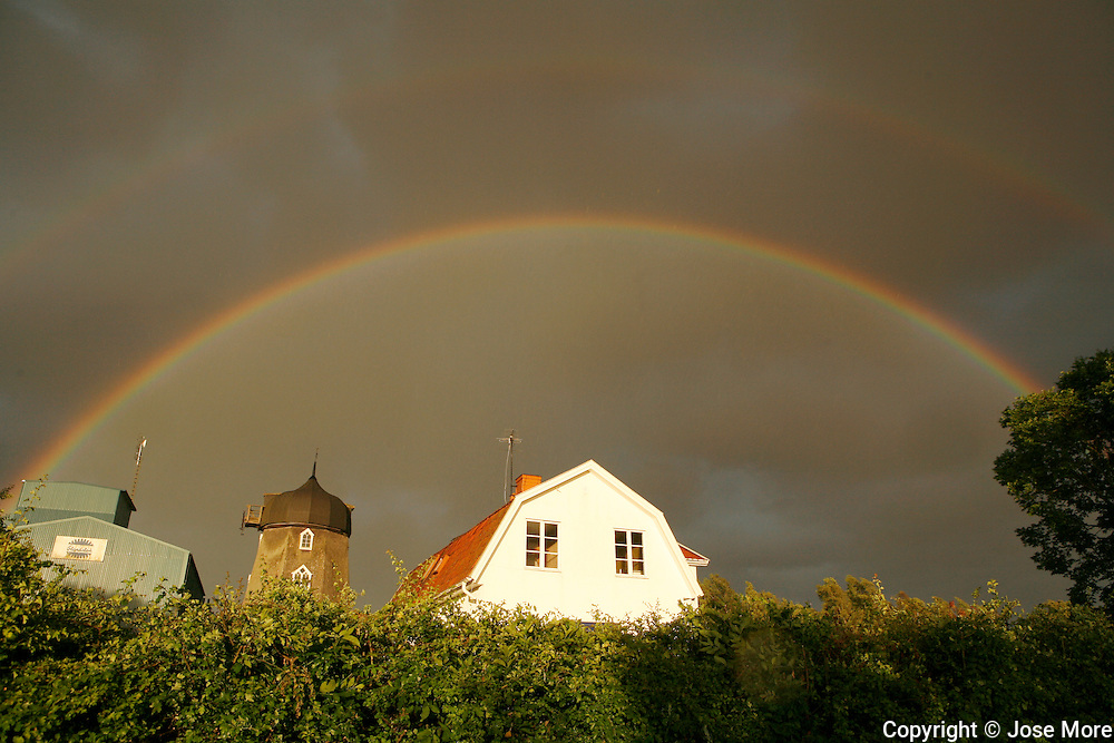 Beautiful rainbows after a squall line moved through the island of Oland.<br /> Photography by Jose More
