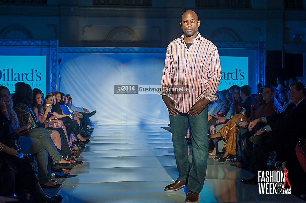 FASHION WEEK NEW ORLEANS: Dillards show case there fashion design on the runway at the Board of Trade, Fashion Week New Orleans on Wednesday March 19. 2014. #FWNOLA, #FashionWeekNOLA, #Design #FashionWeekNewOrleans, #NOLA, #Fashion #BoardofTrade, #GustavoEscanelle, #TraceeDundas<br /> View more photos at http://Gustavo.photoshelter.com.