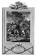 Hundred Years War between England and France (1337-1453) Battle of Agincourt, 25 October 1415. Henry V (1387-1422) in thick of fight. Notable victory for English. Copperplate engraving published 1825