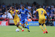 AFC Wimbledon defender Darius Charles (32) during the Pre-Season Friendly match between AFC Wimbledon and Crystal Palace at the Cherry Red Records Stadium, Kingston, England on 27 July 2016. Photo by Stuart Butcher.