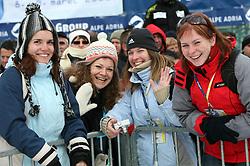 Women at 10th men`s slalom AUDI FIS Alpine Ski World Cup race in Kranjska Gora, Slovenia, ob March 9, 2008.  (Photo by: Vid Ponikvar / Sportal Images)