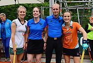 GRONINGEN - Play outs Finals<br /> Groningen - Rotterdam (women)<br /> Foto: Line Up<br /> WORLDSPORTPICS COPYRIGHT FRANK UIJLENBROEK