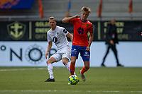 Fotball , 01 Juli 2020 , Eliteserien, AaFK - Mjøndalen , Markus Seehusen Karlsbakk og Joackim Olsen Solberg <br /> <br /> <br /> , Foto: Srdan Mudrinic, Digitalsport