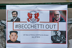 29 Apr 2017 - 'Becchetti out'protests at Orient prior to final home game of the season.