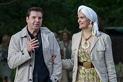 © licensed to London News Pictures. London, UK 13/06/2012. Brendan Coyle and Emma Joy Kitchener enjoying The Haven's annual fundraising garden party at the Chelsea Physic Garden hoping to raise over £40,00 to help support people with breast cancer. Photo credit: Tolga Akmen/LNP