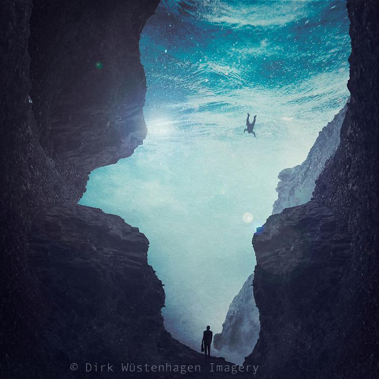Surreal underwater valley - photo manipulation