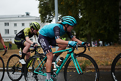 Abby-Mae Parkinson (GBR) with two laps to go at Ladies Tour of Norway 2018 Stage 2, a 127.7 km road race from Fredrikstad to Sarpsborg, Norway on August 18, 2018. Photo by Sean Robinson/velofocus.com