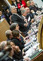 17.12.2013, Parlament, Wien, AUT, Parlament, 7. Nationalratssitzung, Sitzung des Nationalrates mit Regierungserklaerung der neuen SPOe OeVP Bundesregierung. im Bild Bundeskanzler Werner Faymann (SPOe) // Federal Chancellor of Austria Werner Faymann (SPOe) during the 7th meeting of the National Council of austria with declaration of the new federal government, austrian parliament, Vienna, Austria on 2013/12/17, EXPA Pictures © 2013, PhotoCredit: EXPA/ Michael Gruber