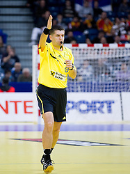 Referee Nenad Krstic of Slovenia during handball match between Denmark and Spain in 1st Semifinal at 10th EHF European Handball Championship Serbia 2012, on January 27, 2012 in Beogradska Arena, Belgrade, Serbia. (Photo By Vid Ponikvar / Sportida.com)