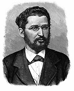 Eduard Bernstein (1850-1932) German socialist leader.  Lived in England 1808-1901.  Associate of Engels. Engraving.