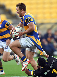 Bay of Plenty's Joe Webber is held by Wellington's Mateaki Kafatolu in the Mitre 10 Rugby Final Championship match at Westpac Stadium, Wellington, New Zealand, Friday, October 27, 2017. Credit:SNPA / Ross Setford  **NO ARCHIVING**