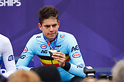 Podium Men Road Race 230,4 km, Wout Van Aert (Belgium BEL) bronze medal, during the Cycling European Championships Glasgow 2018, in Glasgow City Centre and metropolitan areas, Great Britain, Day 11, on August 12, 2018 - Photo Luca Bettini / BettiniPhoto / ProSportsImages / DPPI - Belgium out, Spain out, Italy out, Netherlands out -
