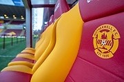 General view inside Fir Park Stadium, Motherwell, Scotland before the Ladbrokes Scottish Premiership match between Motherwell FC and Heart of Midlothian FC on 17 February 2019.