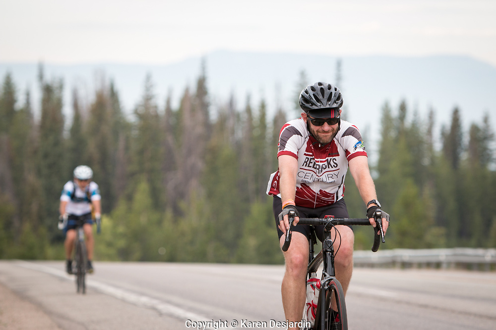Reaching the summit of Rabbit Ears, Tour de Steamboat 2018