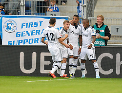 28.09.2013, Rhein Neckar Arena, Sinsheim, GER, 1. FBL, TSG 1899 Hoffenheim vs Schalke 04, 7. Runde, im Bild TOR zum 0:1 durch Kevin-Prince Boateng FC Schalke 04 Torjubel, Jubel, Freude, Emotion // during the German Bundesliga 7th round match between TSG 1899 Hoffenheim and Schalke 04 at the Rhein Neckar Arena, Sinsheim, Germany on 2013/09/28. EXPA Pictures © 2013, PhotoCredit: EXPA/ Eibner/ Michael Weber<br /> <br /> ***** ATTENTION - OUT OF GER *****