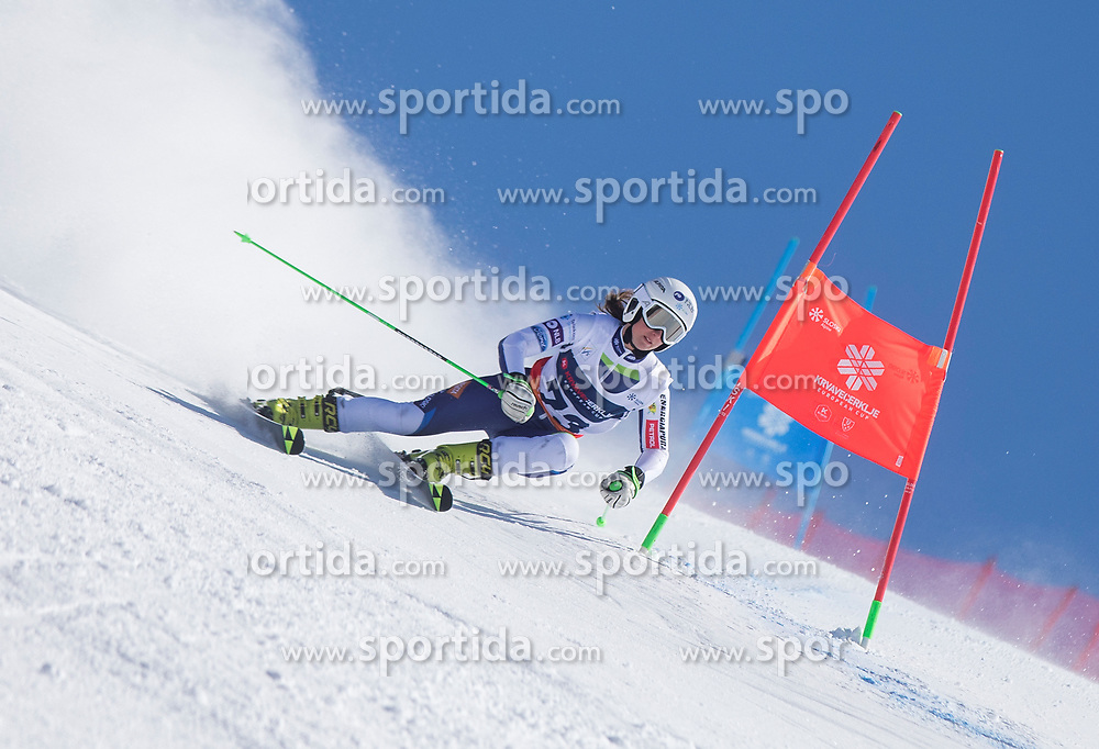 Lina Knific from Slovenia during the giant slalom for European Cup on 27.2.2020 on Krvavec, Cerklje na Gorenjskem, Slovenia. Photo by Urban Meglič / Sportida