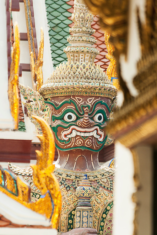 Giant guardian at the Royal Palace in Bangkok, Thailand