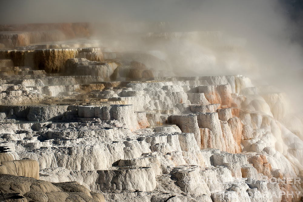 Mammoth Hot Springs, Yellowstone National Park, Wyoming.