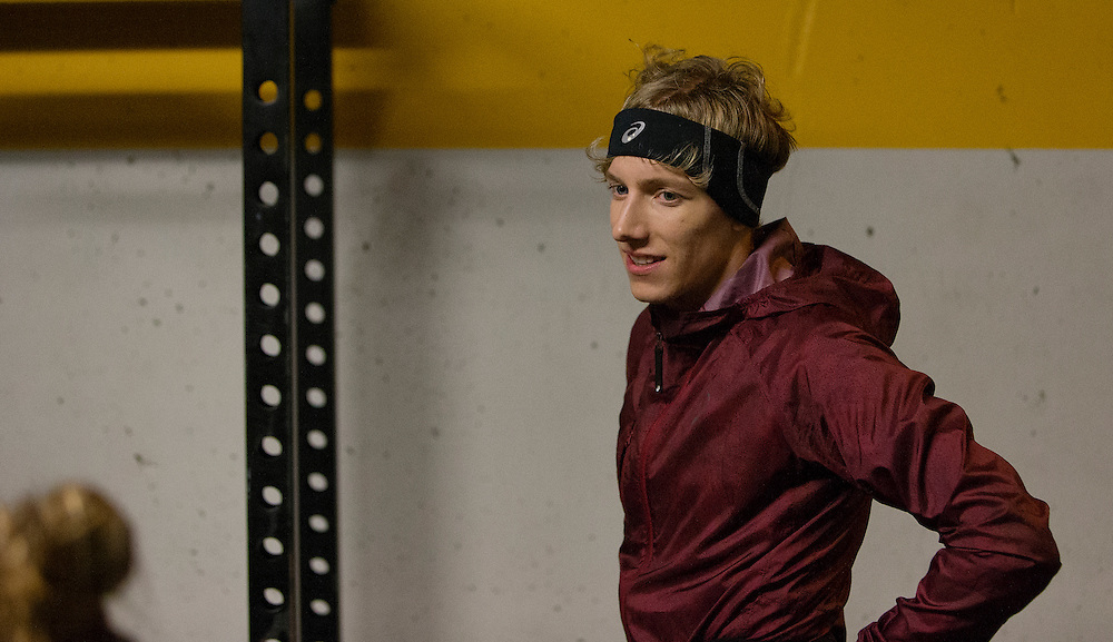 Charles Philibert-Thiboutot trains at the University of Victoria on December 3rd, 2015 in Victoria, British Columbia Canada.
