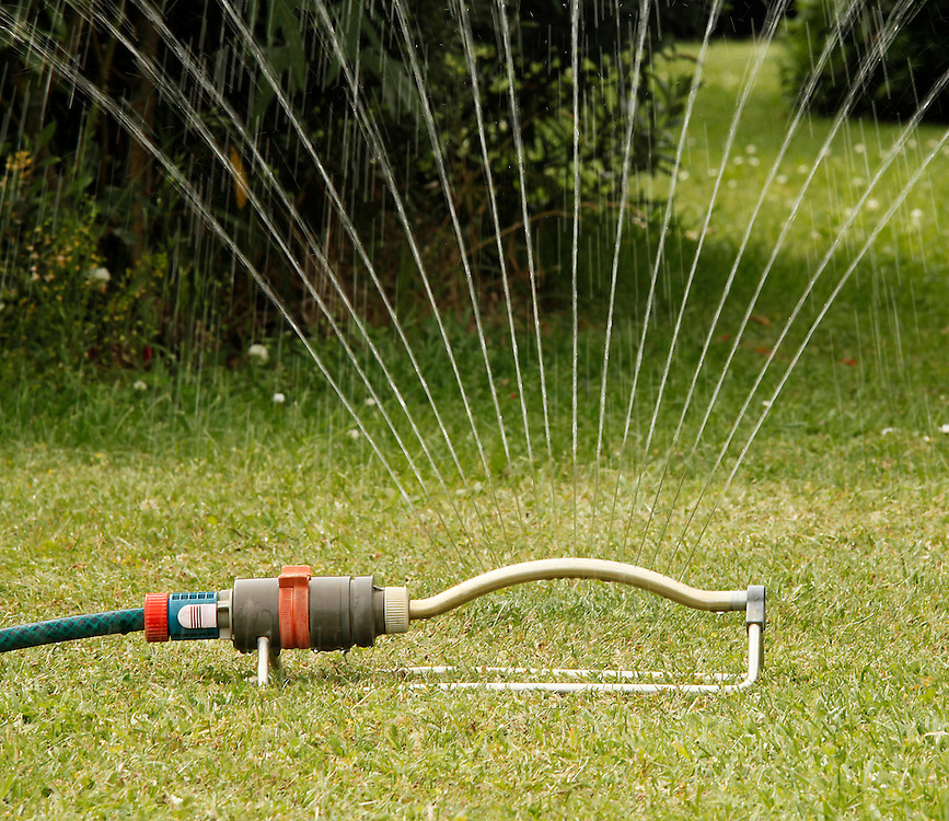 Watering with a sprinkler, North Canterbury, New Zealand, Wednesday, December 28, 2011.  Credit:SNPA / Pam Johnson